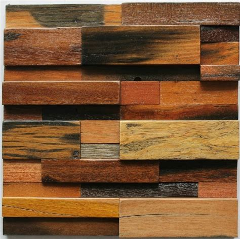 Holz Mosaik Fliesen by Wood Mosaic Tile Rustic Wood Wall Tiles Nwmt005