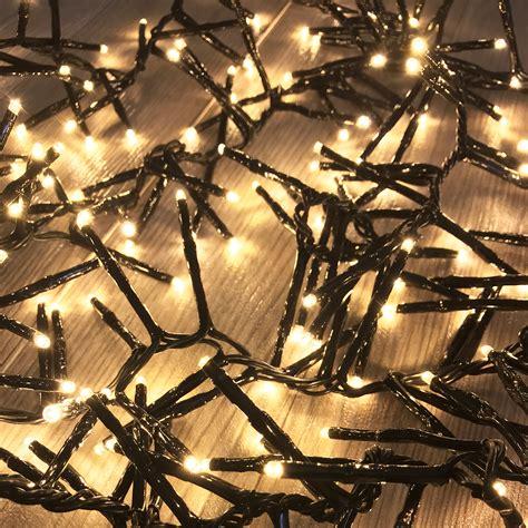 cluster lichterkette warmweiss 560er cluster lichterkette leds innen und au 223 en real