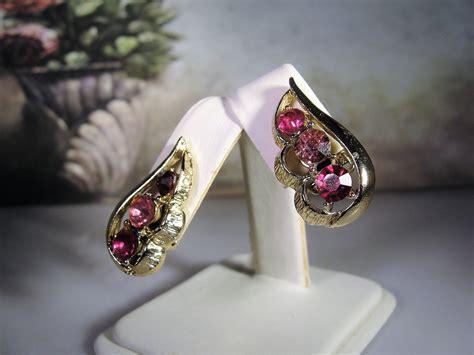 CORO Jewelry Set, Pink Midcentury Jewelry Set, Pink ...