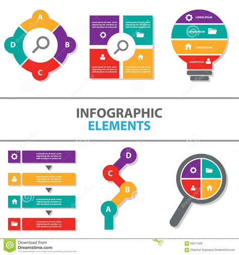 Colorful Infographic Presentation Template Brochure Flyer Colorful Infographic Elements Icon Presentation Template