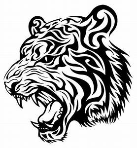 Simple Tiger Head Tribal | www.pixshark.com - Images ...