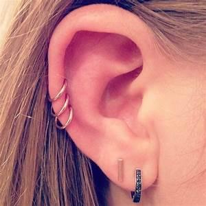 triple ear piercing My Accessories Pinterest