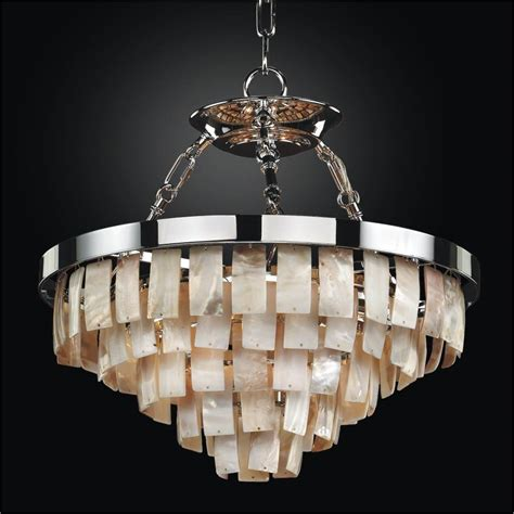 shell chandeliers rectangular shaped opalescent shell chandelier to semi