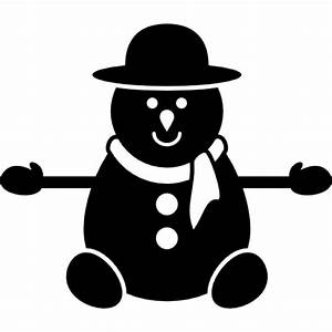 Snowman in black version Icons | Free Download
