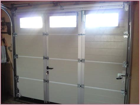 prix porte de garage sectionnelle avec portillon intgr