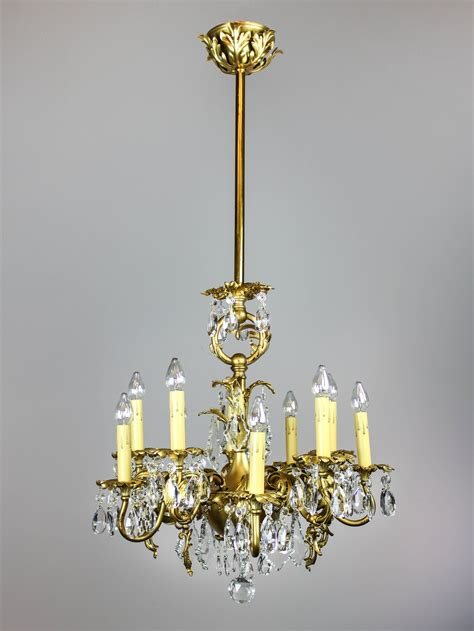 Chandelier Lights by Gold Plated Rococo Converted Gas Chandelier 10 Light