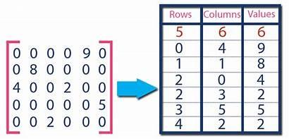 Matrix Sparse Representation Data Example Array Non