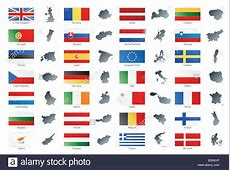 European Union Map Stock Photos & European Union Map Stock
