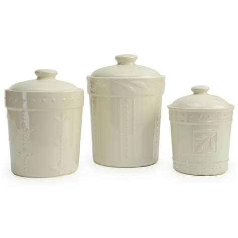 Kitchen Canister Sets Ceramic by Signature Housewares 3 Sorrento Ceramic Ivory