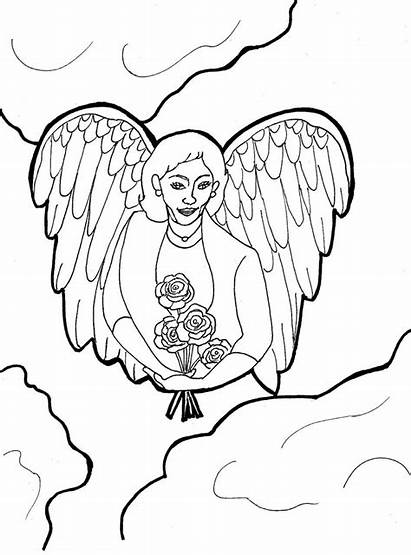 Angel Coloring Guardian Pages Angels Printable Adults