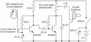 Simple Two-transistor Radio - Audio Circuit
