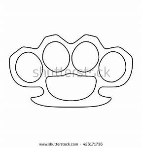 knuckleduster stock vectors images vector art With brass knuckles template