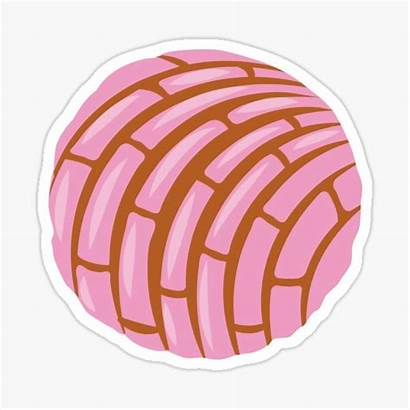 Dulce Concha Pan Mexican Sticker Stickers Conchas