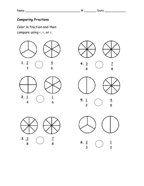 5th grade math worksheets comparing fractions fraction coloring sheets 3rd grade pinterest u2022 the
