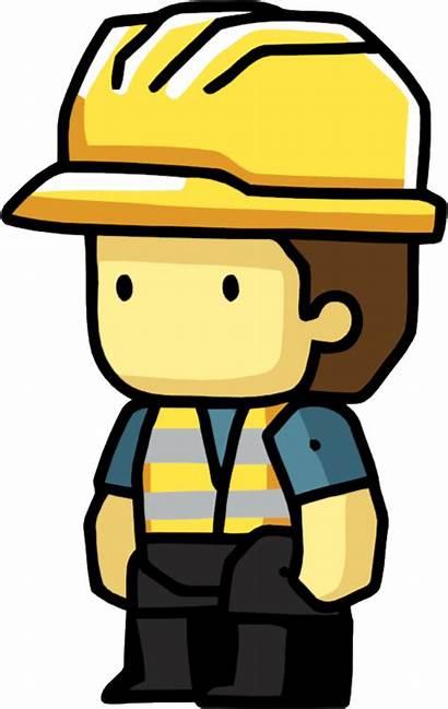 Worker Construction Scribblenauts Clipart Workers Cartoon Hat
