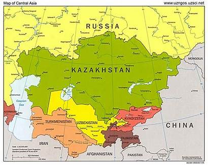 Asia Central Map Countries Asian Steppes History