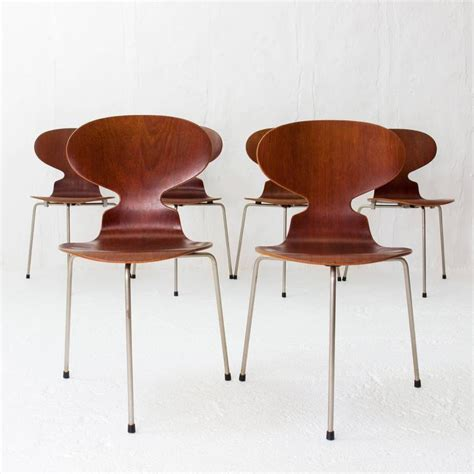 chaise fourmi teak ant chairs 3100 arne jacobsen for fritz hansen early
