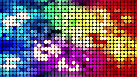 colorful sparkling disco wall computer generated seamless loop abstract motion background 4k