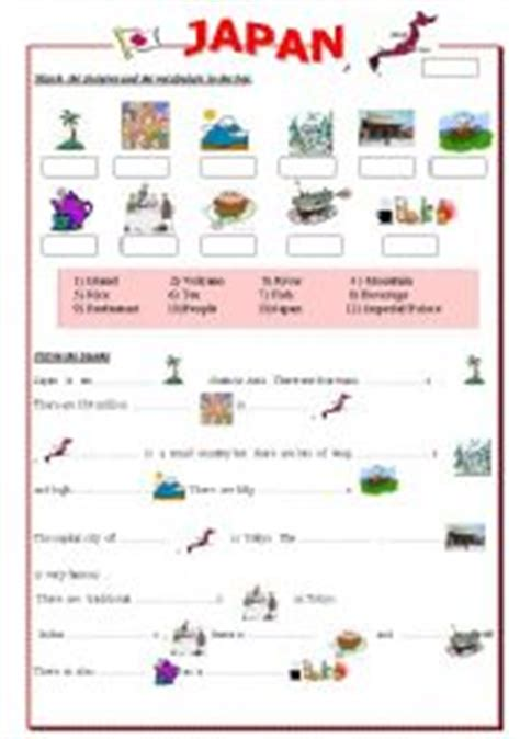 english worksheets japan there is there are landscape