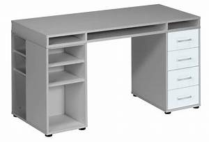Bureau 150 Cm : bureau cooper 150 cm breed grijs met wit ~ Teatrodelosmanantiales.com Idées de Décoration