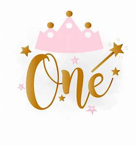 1st Birthday SVG clipart baby girl Birthday crown Birthday