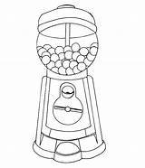 Gumball Machine Coloring Gum Bubble Pages Drawing Getdrawings Printable Print Getcolorings sketch template