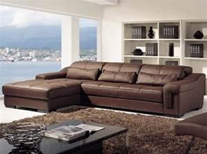 Canapé D Angle Cuir Marron : photos canap d 39 angle cuir marron ~ Teatrodelosmanantiales.com Idées de Décoration