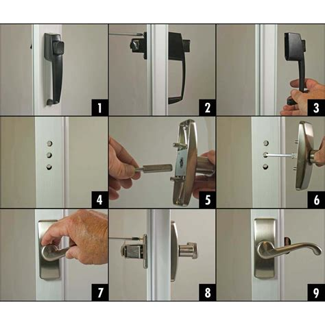 how to install or replace a or screen door handle
