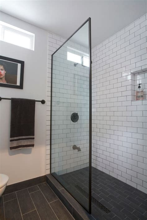 grey subway tile bathroom bathroom industrial bathroom industrial with oil rubbed bronze fixtures white subway tile with