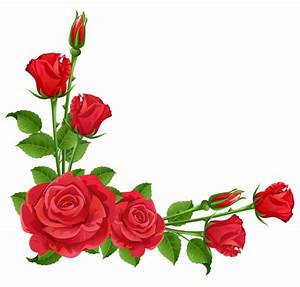 Red Roses Transparent PNG Clipart | Boarders, Corners ...