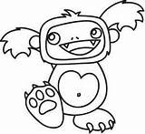 Coloring Designs Yeti Embroidery Pages Urbanthreads Urban Threads Adult Bought Paper Worksheets Monsters Creatures Characters sketch template