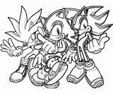 Sonic Hedgehog Coloring Pages Silver Team Printable Shadow Exe Generations Super Surfing Hedgehogs Getdrawings Sheets Getcolorings Colorings Paid Werehog Drawing sketch template