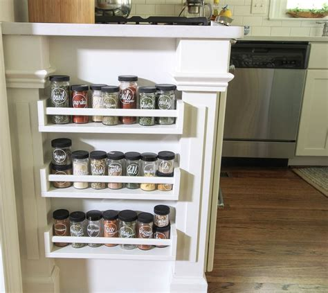 Spice Rack Storage by Hometalk Easy Built In Spice Rack Bekvam Ikea Hack