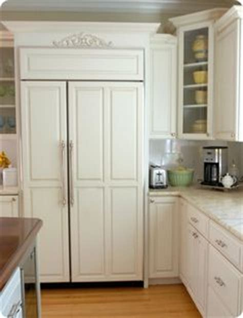 fridge kitchen cabinet wood panel refrigerator kitchens 1111