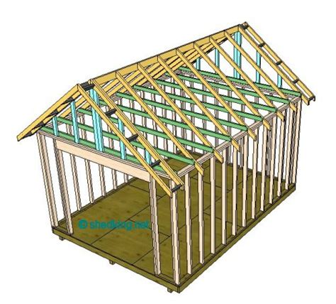 shed roof framing  easy