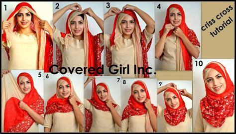 criss cross style tutorial islamic fashion pinterest