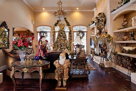 living room mediterranean christmas decor interiors interior houzz decorators designers spallina chicago