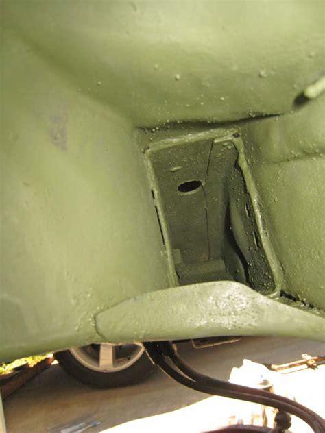 frame impala restoration 1964 forward area looking shaft cross drive paint
