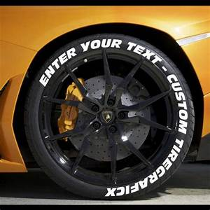 Create your own tire stickers full tire decal kit for Custom tire lettering