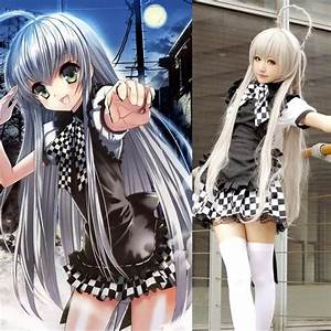 Japanese Anime Nyaruratohotepu Cosplay Costume Coffee Shop Waitress Apron Dress Nyaruko Battle ...