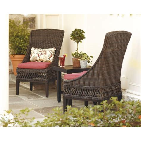 hton bay woodbury patio chair 2 pack for 120 home depot