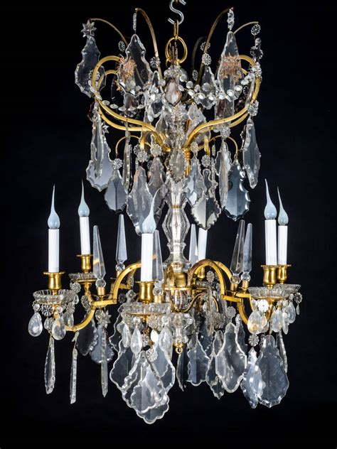 Baccarat Chandelier by Antique Baccarat Louis Xvi Style Gilt Bronze And Cut