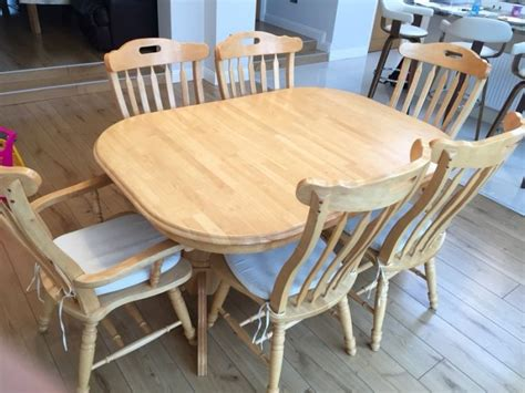 solid pine kitchen table and 6 chairs for sale in artane