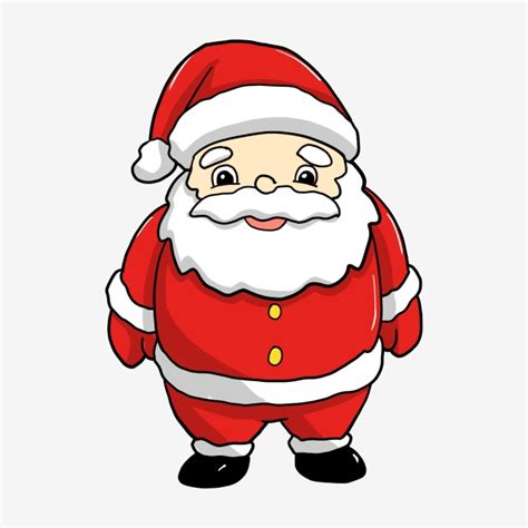 red cartoon santa claus cartoon clipart santa clipart
