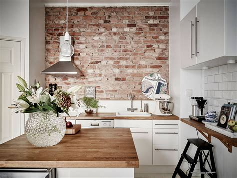 kitchen wall ideas create an statement with a white brick wall