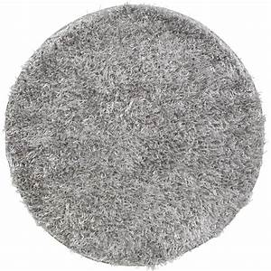 tapis gris shaggy lilou diam900 mm leroy merlin With tapis gris but
