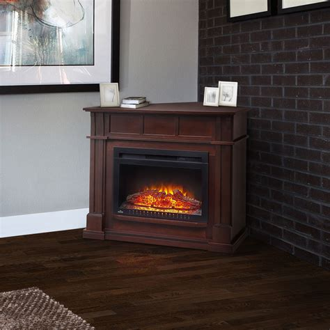 corner fireplace mantels bailey wall corner electric fireplace mantel package in