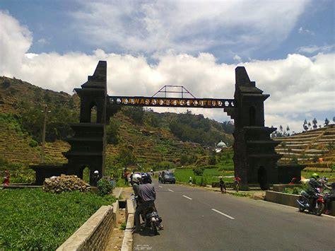 kawasan obyek wisata pegunungan dieng wonosobo jawa tengah