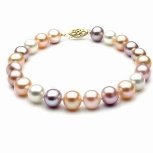 bracelets en perles de culture or 18 carats et diamant With perle bijoux