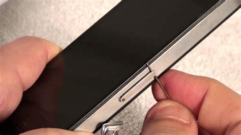 iphone    remove  insert  sim card youtube